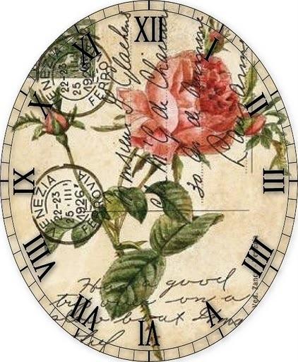 Часы для декупажа.