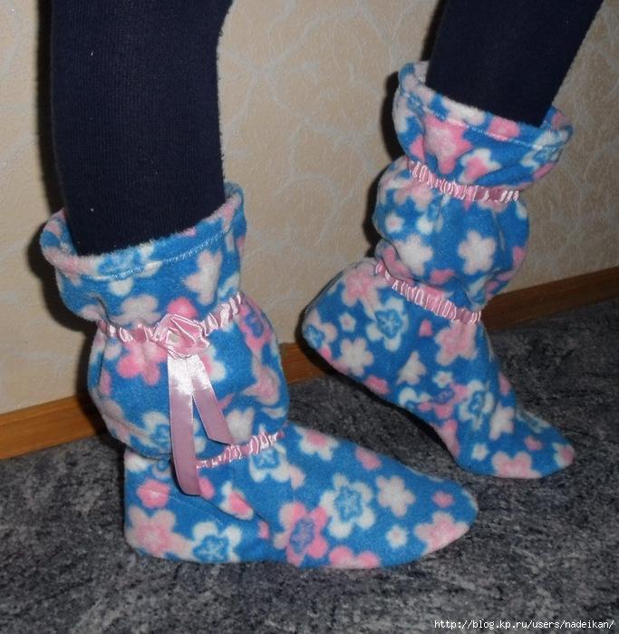 Тёплая обувь своими руками 51