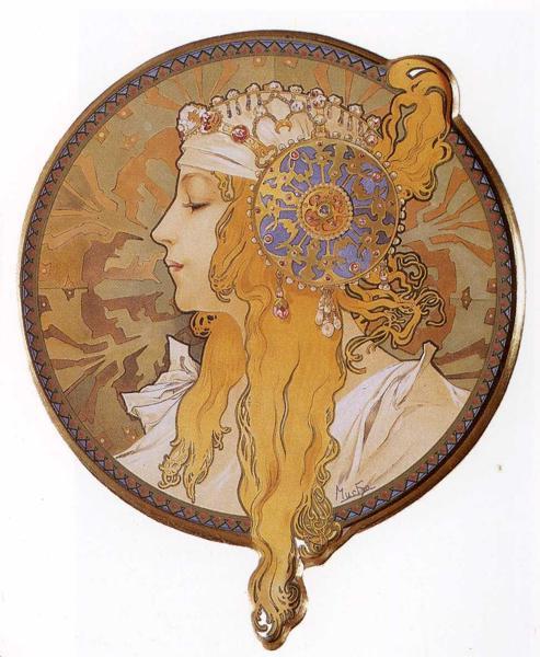 Голова византийки_ Блондинка. 1897 (493x600, 53Kb)