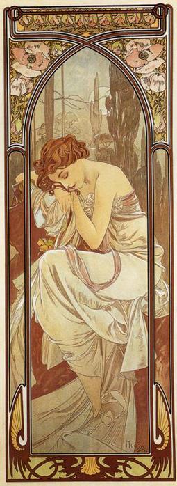 Ночной отдых. Из серии Время суток. 1899 (255x700, 48Kb)