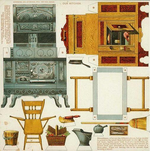 Все картинки честно стырены.  Очень люблю подобного рода винтажные штучки. на ЯФ.  Много старинной бумажной мебели...