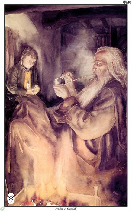 Фродо и Гендальф (437x700, 339Kb)