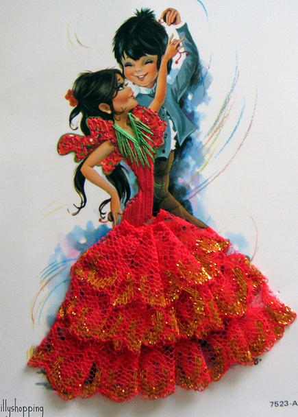 Spanish Flamenco Card  Flickr - Photo Sharing! (435x608, 654Kb)