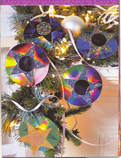 Поделки из дисков для детей к новому году
