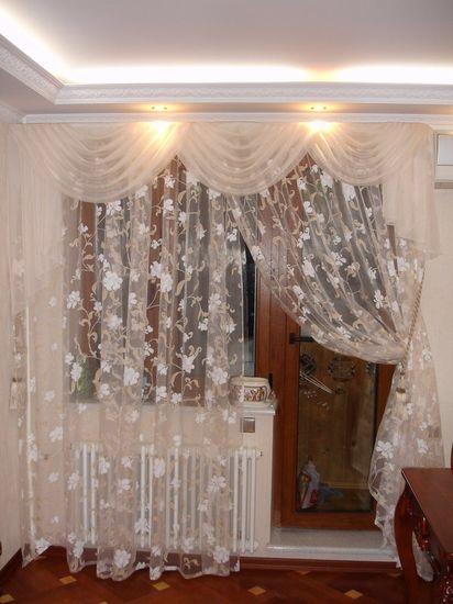 Варианты оформления окна шторами фото