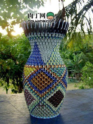 Бумажное искусство модульное оригами: лампы, вазы.