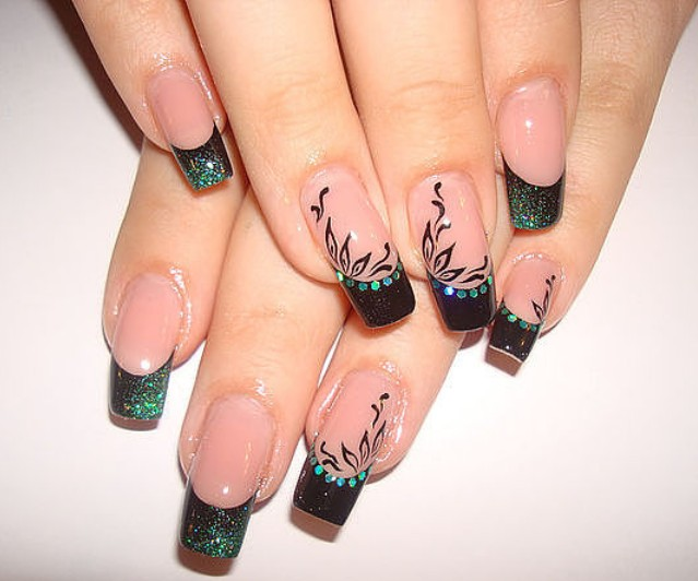 Рисунки гелями на ногтях
