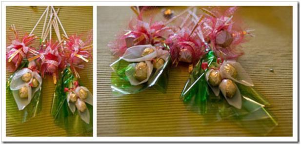 Как сделать конфетные букеты фото