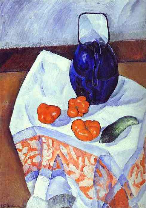 altman9Nathan Altman. Jug and Tomatoes. 1912. Oil on canvas. 69.5 x 49.5 cm. The Russian Museum, St. Petersburg, Russia. (489x700, 32Kb)