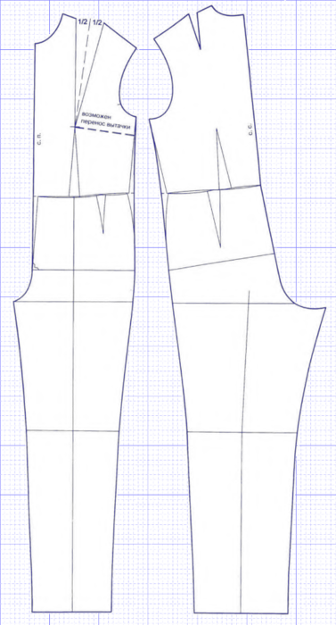 Выкройка прямых брюк женских