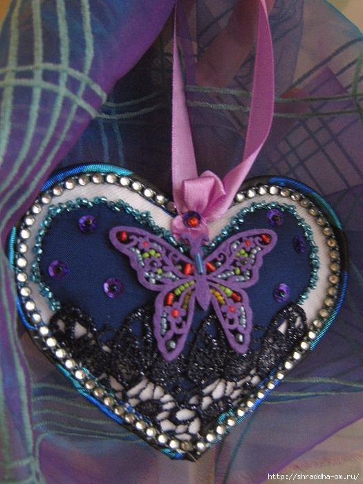 сердечко с бабочкой, hand made, автор Shraddha, 1 (525x700, 289Kb)