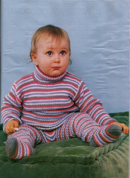 Вязание спицами детского комплекта - шапочка, жакет, штанишки.  Варежки без шва вязанные спицами - 58,720 раз.