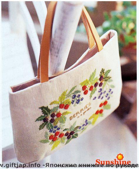 схемы вышивки сумок.