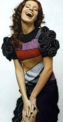 вязаное цветное платье (208x400, 63Kb)