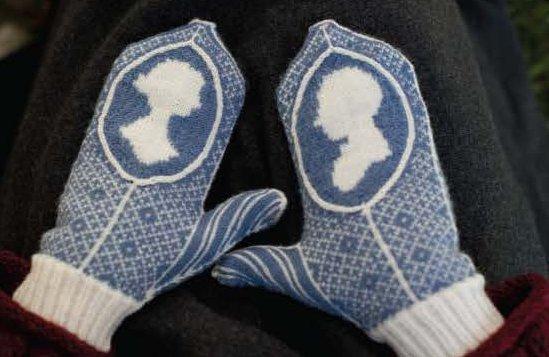 Варежки chawton mittens, jane austen knits, 2011.