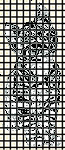 схемка котика из бисера по имени Гав - Исскуство схемотехники.