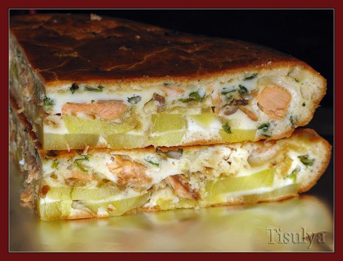 Пирог из рыбы рецепты простые и вкусные в духовке