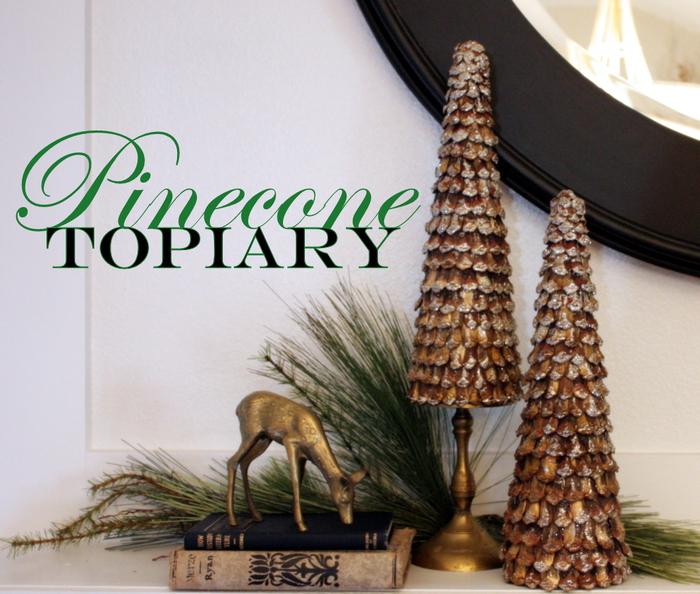 Очень красивая работа - елка-топиарий из лепестков разобранных шишек от Мишель (sweetsomethingdesign.blogspot.com) .