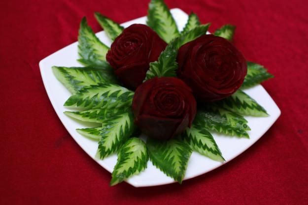 Украшения блюд из овощей и фруктов своими руками фото