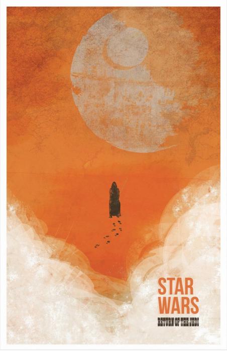 Красивые постеры фильмов в стиле минимализм от Fro