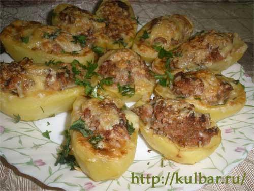 Картошка с фаршем в духовке рецепты с пошагово с сыром