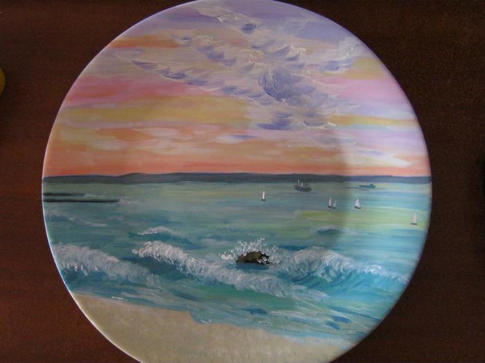 Пейзажи для росписи тарелок