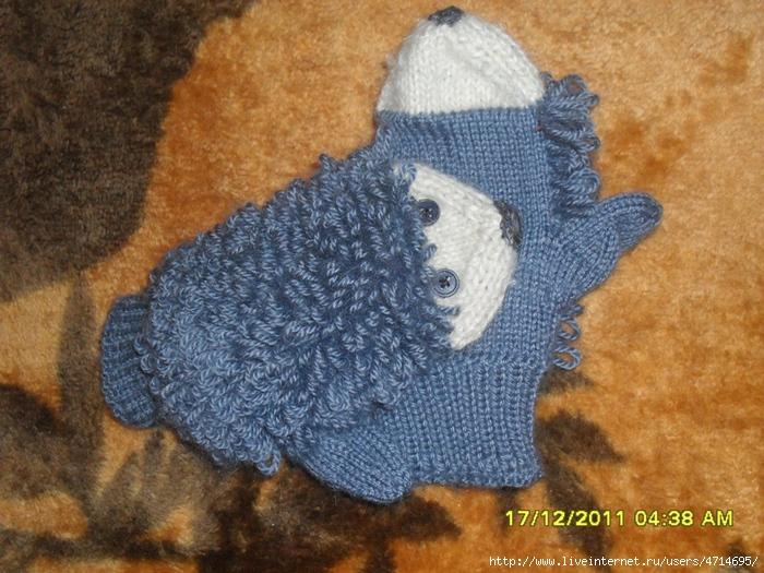 Варежки для мальчиков вязание спицами 243