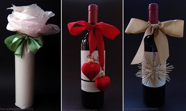 Упаковка бутылки в подарок своими руками