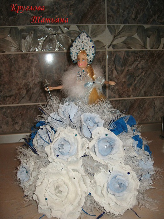Букет из конфет снегурочка своими руками - Danetti.Ru