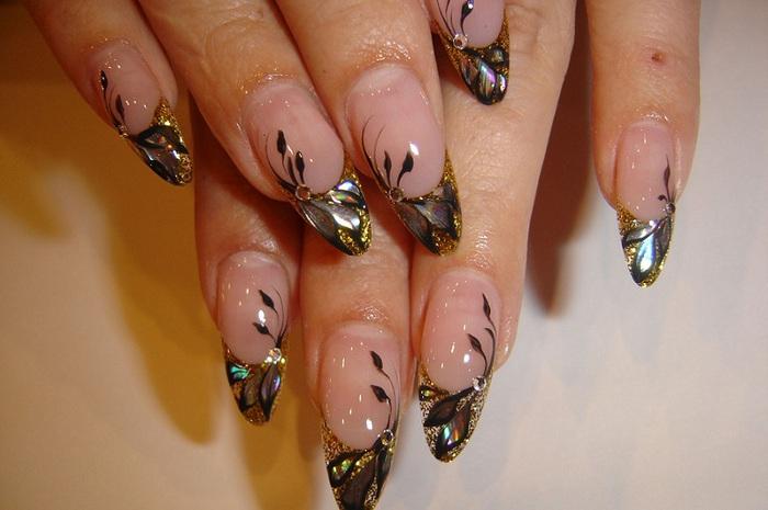 Очень красивый дизайн ногтей френч новинки