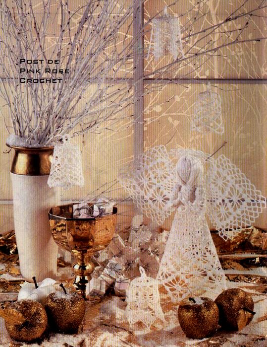 Anjo  Croche de  Natal - PRoseCrochet (539x700, 787Kb)
