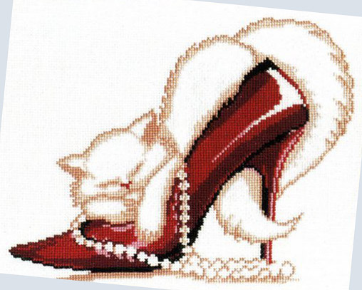 Набор для вышивания Красная туфелька, ОВЕН 279 купить в санкт петербурге Шале, Aida 14, Счетный крест.