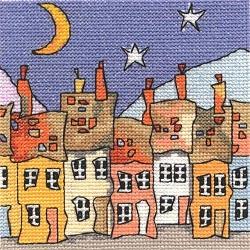 Схемы вышивка кривые домики