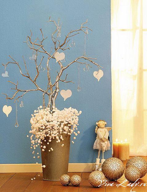 Идеи декора дома на новый год своими