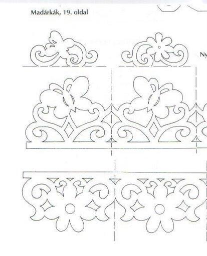 Вытынанки орнаменты шаблоны