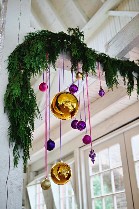 Идеи украшения сада на новый год