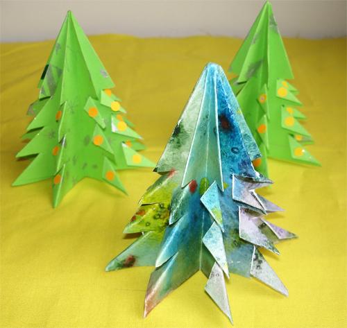 Новогодние поделки: Елочка-оригами.