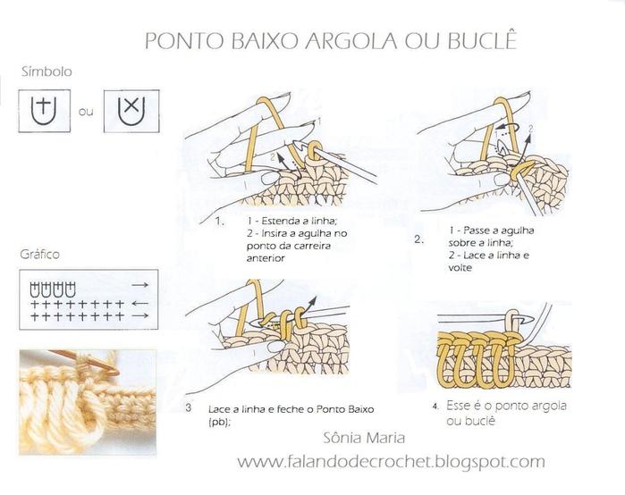 Связать коврик с вытянутыми петлями