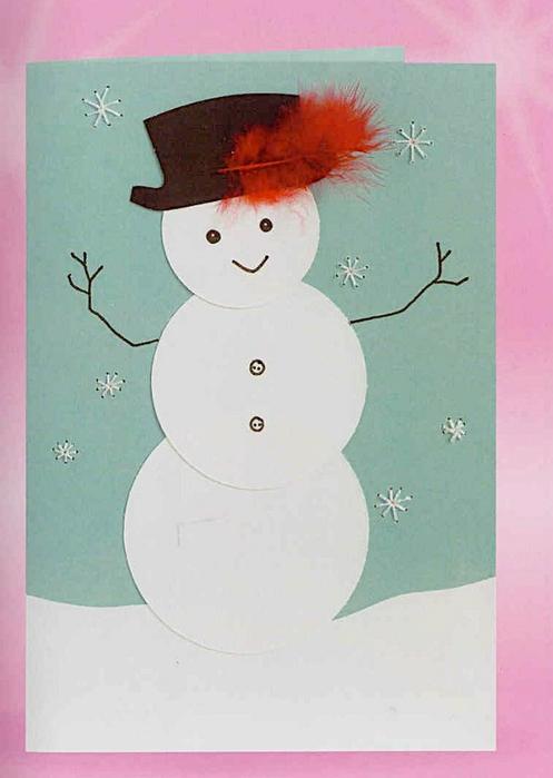 Новогодние открытки с ребенком 5-6 лет