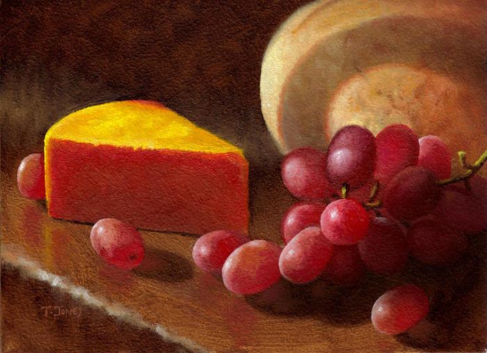 36 la cuña del queso y uvas.  Timothy Jones (700x507, 76Kb)