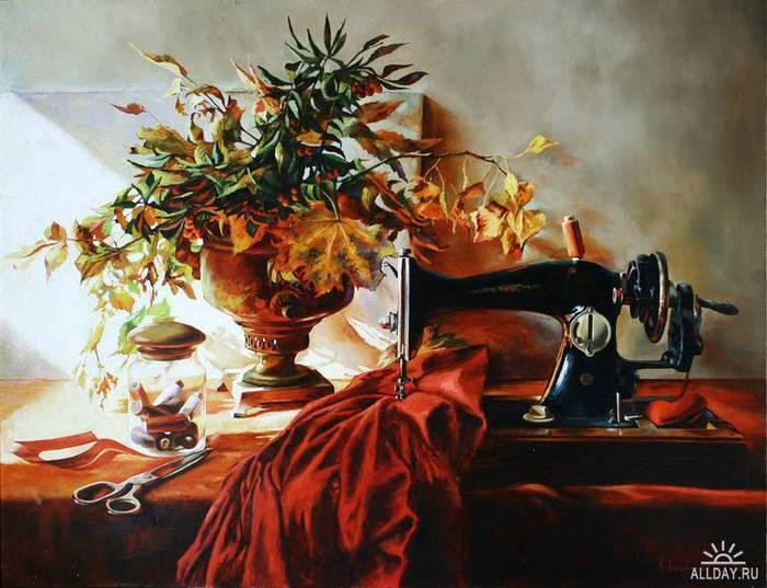 20 Сергей Ковалевский  «Осеннее платье» (700x537, 59Kb)