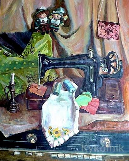 27 Сидорова-Демченко Надежда. «Натюрморт со швейной машинкой» (410x512, 104Kb)