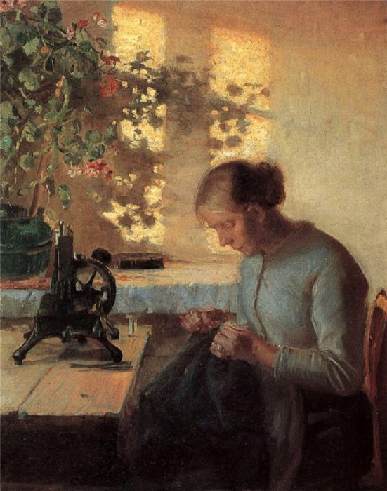 30 Анна Анчер. Жена рыбака за шитьем (551x700, 446Kb)