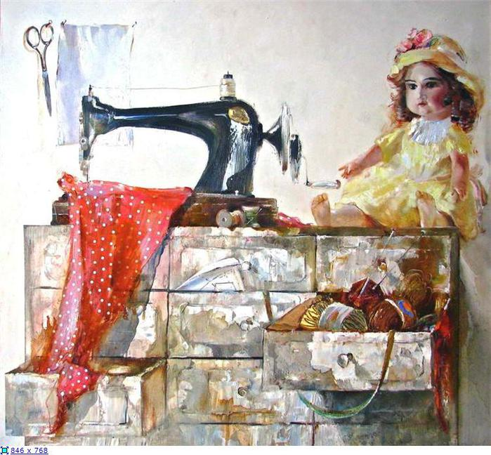 38 Василий Пешкун «Платье для куклы» (699x648, 85Kb)