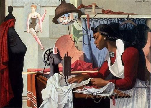 40 Francis Hyman Criss (American artist, 1901–1973) Alma Sewing (512x366, 63Kb)