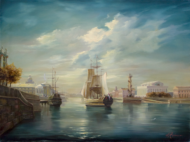 Вид на стрелку Васильевского острова1 (650x488, 119Kb)