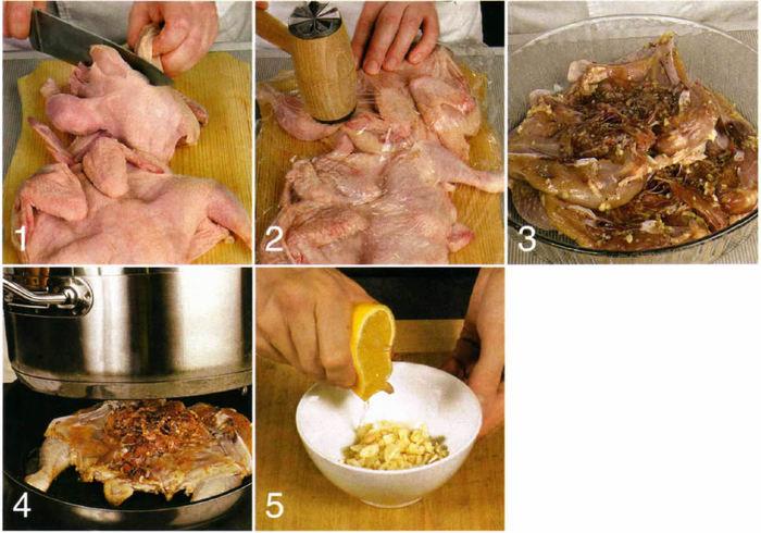 Как приготовить цыпленка табака пошаговый рецепт