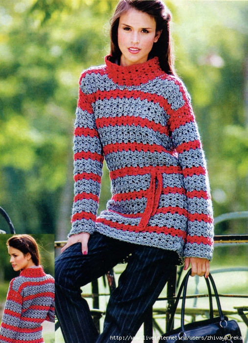 Журнал по вязанию крючком представляет стильную коллекцию современной женской одежды.