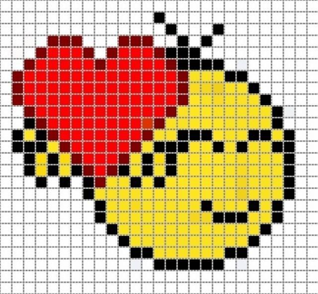 Предлагаю подборку схем прямого плетения ко Дню Святого Валентина, ведь что может быть лучше подарка...