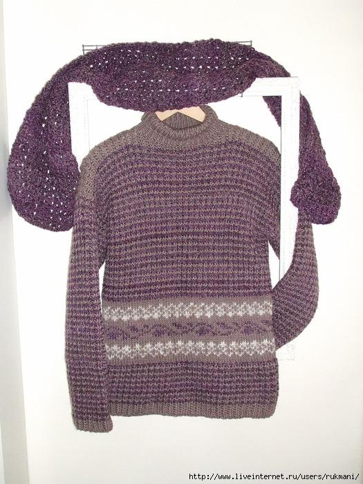 вязание на спицах свитера гольфа. мужские свитера крупной вязки фото.